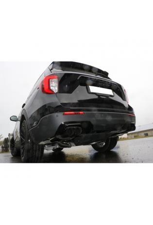 FOX Duplex Sportauspuff Ford Explorer Typ WUJ 3.0l Hybrid re li je 2x90mm schwarz