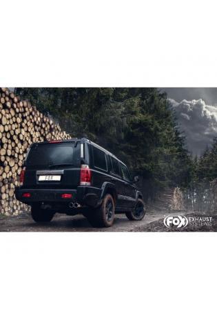 FOX Sportauspuff Endschalldämpfer Jeep Commander 4.7l 4x4 2x90mm