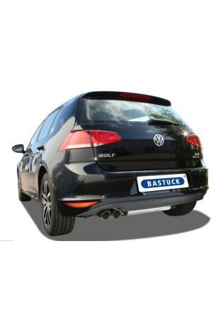 BASTUCK Sportauspuff Komplettanlage ab Kat. VW Golf 7 2.0l D links 2x76mm schräg