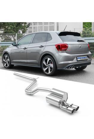 "Eisenmann Sportauspuff VW Polo VI Typ AW 2.0l GTI ohne OPF 2x83mm ""LeMans Design"" Chrom"