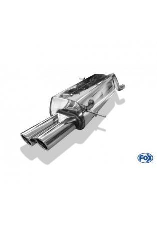 FOX Sportauspuff Ford Fiesta VII/ Fiesta VII Sport 1.0l 1.4l 2x70mm