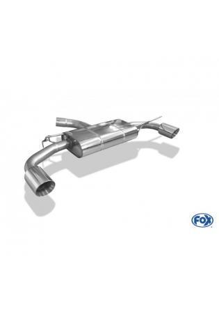 FOX Duplex Sportauspuff VW Golf VII Facelift Einzelradaufhängung re/li je 1x114mm