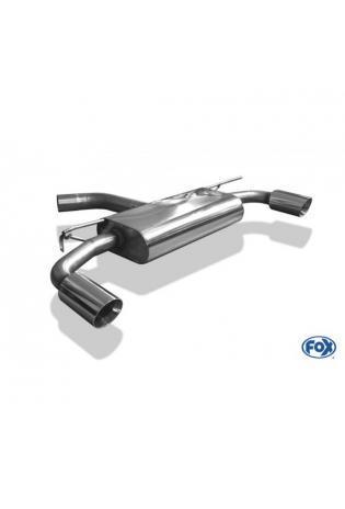 FOX Duplex Sportauspuff VW Golf VII starre Hinterachse Facelift je 1x100mm Absorber