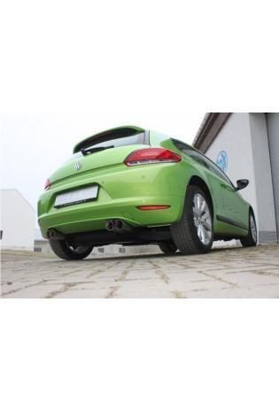 Fox Sportauspuff Racinganlage ab Kat VW Scirocco 13 rechts links je 2x76mm