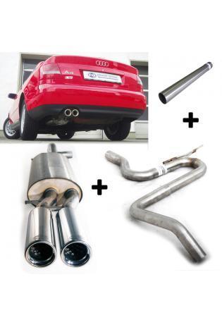 FOX Racinganlage Audi A4 Typ B5 Limo Avant 1.8l 2.6l 2.8l und Diesel 2x76mm Absorber