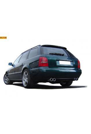 FOX Duplex Racinganlage ab Kat. Audi A4 B5 1.8l 2.6l 2.8l und Diesel re li je 2x76mm