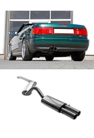 FOX Racinganlage ab Kat. Audi 80 u. 90 Typ 89 Coupe 2.6l 2.8l bis Bj.94 2x76mm ohne Absorber