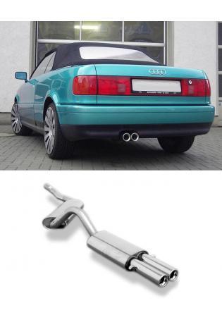 FOX Racinganlage ab Kat. Audi 80 90 Cabrio+Coupe ab 07.94 Typ 89 2.6 2.8 2 x 76mm mit Absorber