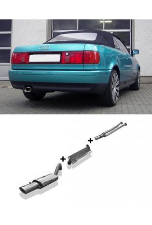 FOX Komplettanlage ab Kat. Audi 80 u. 90 Typ 89 Coupe 2.6l 2.8l bis Bj.94 1x135x80mm