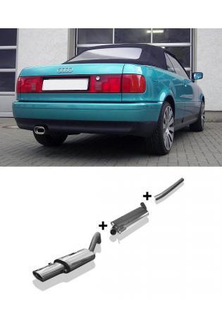 FOX Racinganlage ab Kat. Audi 80 u. 90 Typ 89 1.6l bis 2.8l und Diesel 1x135x80mm