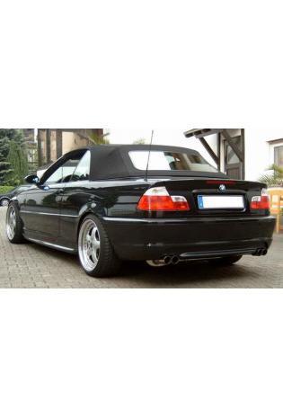 FOX Racinganlage ab Kat. BMW 3er E46 320i 325i 330i re li je 2x76mm eingerollt
