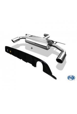 FOX Komplettanlage ab OPF VW Golf VII starre Hinterachse Facelift je 1x100mm inkl. Heckeinsatz schwarz matt