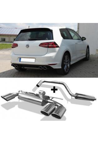 FOX Komplettanlage ab OPF VW Golf VII Facelift starre Hinterachse je 2x115x85mm