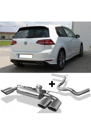FOX Racinganlage ab OPF VW Golf VII Facelift starre Hinterachse je 2x115x85mm