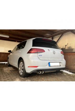 FOX Sportauspuff Racinganlage ab Kat. VW Golf VII GTE 1.4l  2x80mm Absorber