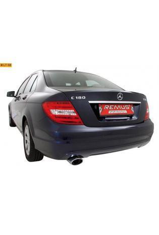REMUS Sportauspuff 138x90mm schräg Mercedes Benz C-Klasse W204 Limousine inkl. Facelift