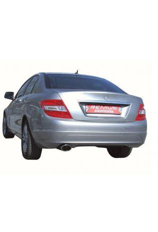 REMUS Sportauspuff links 138x90mm schräg Mercedes Benz C-Klasse W204 Limousine inkl. Facelift & S204 (TModell) C230 bis C350 u. C320 CDI  C350 CDI