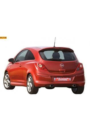 REMUS Duplex Sportauspuff Opel Corsa D mit Sportheckschürze 1.0l  1.2l  1.4l u Diesel je 1x102mm