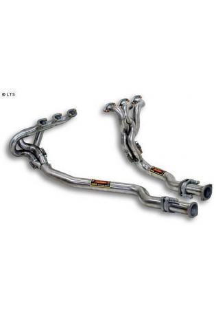 Alfa Romeo 147 GTA und 156 GTA ab 02 (Limousine und Sport Wagon) und 166 ab 98 sowie Alfa Romeo GTV und Spider ab 03 und GT Coupe ab 04 - Supersprint Sportauspuff Fächerkrümmer inkl. Verbindungsrohrsatz anstelle Haupt-Kat.