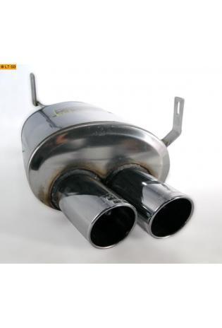 Supersprint Sportauspuff links 2x80 mm rund - BMW Z4 M (Roadster und Coupe) 3.2i ab 06