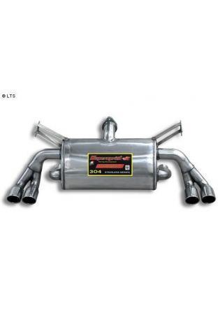 Supersprint Sportauspuff Duplex-Endschalldämpfer je 2x70mm - Ferrari 355 Coupe, Spider u. GTS Targa Bj. 98-99