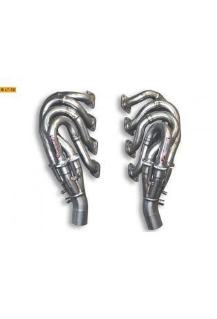 Supersprint Sportauspuff Duplex-Fächerkrümmer inkl. Vorderrohr (rechts-links) anstelle Kat. Ferrari 430 (Coupe und Spider)