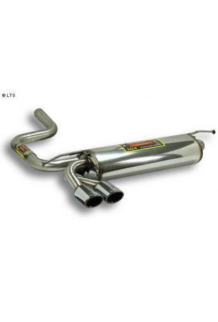 Supersprint Sportauspuff Endschalldämpfer 2x 90x70 - Mercedes W210 Kombi E200 - E230 - E200 CDi - E220 CDi - E250 D - E250 TD - E290 TD - E300 TD Bj. 96-02