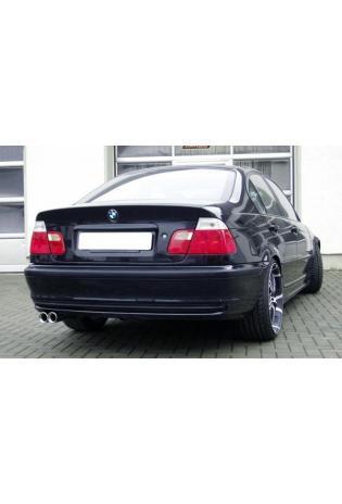 FOX Sportauspuff Endschalldämpfer Edelstahl BMW E46 330d und 330Xd 2 x 76mm eingerollt gerade mit Absorber