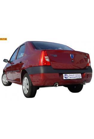 FOX Sportauspuff Duplex Endschalldämpfer Edelstahl Dacia Logan 1.4l  1.6l - rechts - links je 90mm eingerollt gerade mit Absorber
