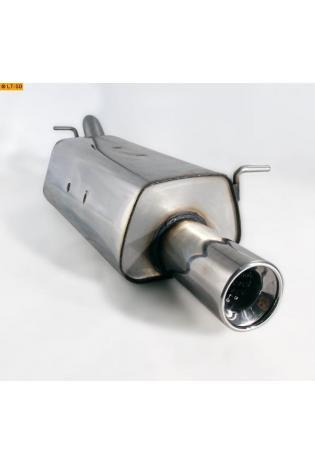 Hyundai Getz 3- u. 5-Türer 1.1l  1.3l  1.4l  1.6l  1.5l CRDi ab Bj. 02 FOX Sportauspuff  90mm eingerollt gerade mit Absorber (RohrØ 45mm)
