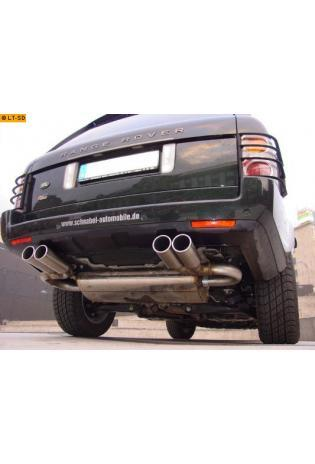 FOX Sportauspuff Duplex Endschalldämpfer Edelstahl Land Rover Range Rover 3 ab Bj. 02 3.0l TD - rechts links je 2 x 90mm eingerollt gerade mit Absorber