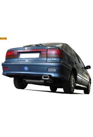 FOX Sportauspuff Endschalldämpfer Edelstahl Mitsubishi Lancer 4 Stufenheck 1.5l - 160x80mm flachoval eingerollt abgeschrägt mit Absorber