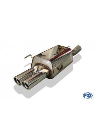 FOX Sportauspuff Endschalldämpfer Opel Zafira A OPC Bj. 99-04  2x80mm mit Absorber