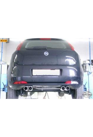 FOX Sportauspuff Fiat Grande Punto 199 1.3l D  1.9l D - rechts links je 2 x 76mm eingerollt mit Absorber (RohrØ 45mm)