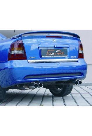 Gestec Sportauspuff 2x80 mm rund, eingerollt rechts-links Opel Astra G Coupe + Cabrio 1,6l/1,8l/2,2l (16V)/2,0l Turbo für Serienheckstoßstange
