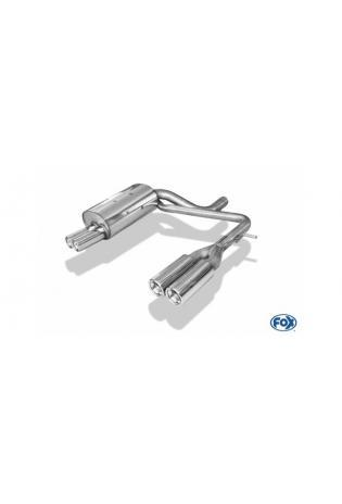 FOX Sportauspuff Duplex Endschalldämpfer Volvo XC90 2.5l  3.0l  2.4l TD - rechts links je 2 x 76mm eingerollt gerade mit Absorber