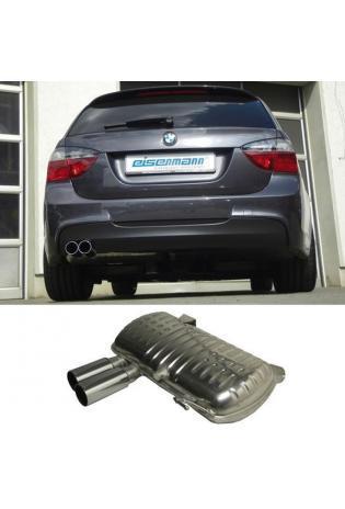 EISENMANN Sportauspuff Endschalldämpfer BMW E90 Limousine und E91 Touring - 2 x 76mm gerade poliert