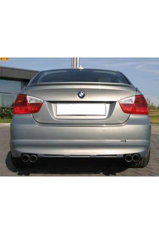 EISENMANN Sportauspuff Duplex Endschalldämpfer BMW E90 Limousine und E91 Touring - rechts links je 2 x 76mm gerade poliert in hartverchromter Ausführung