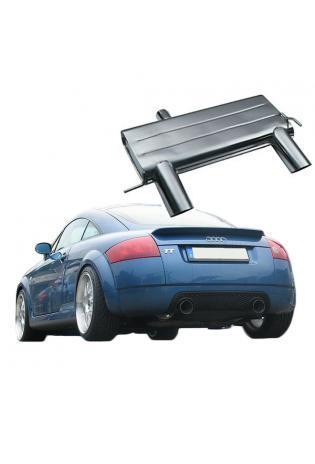 EISENMANN Sportauspuff Duplex Endschalldämpfer Audi TT 1.8T Quattro - rechts links je 102mm abgeschrägt poliert