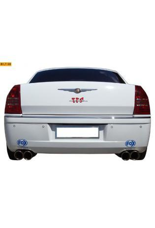 FOX Sportauspuff Komplettanlage ab Kat. Edelstahl Chrysler 300 C inkl. AWD Limousine Kombi ab Bj. 04 3.5l - rechts - links je 100mm eingerollt abgeschrägt mit Absorber