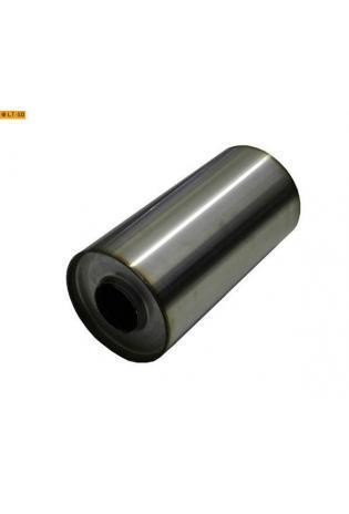 Universalschalldämpfer Rund einflutig ohne Stutzen Eingang Ø 55mm Schallkörper Ø 125mm Länge 250mm Edelstahl