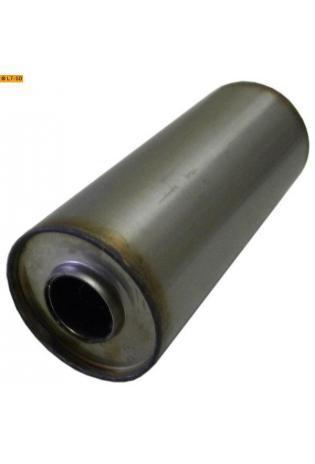 Universalschalldämpfer Rund einflutig ohne Stutzen Eingang Ø 45mm Schallkörper Ø 100mm Länge 250mm Edelstahl