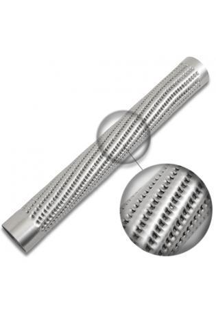 Perforiertes Rohr zum Auspuff selber bauen Ø 50mm mit nach innen aufgestellten Löchern Länge 450mm