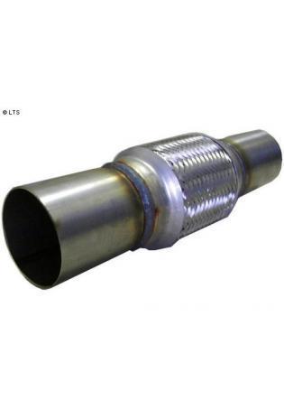Flexrohr mit Edelstahl-Anschlussrohren Ø 76mm (d1) Länge 150mm FOX Universal