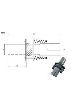 Kompensator Durchgangsöffnung Ø 70mm (d1) innen 60-80mm (d2) Länge 230mm Edelstahl FOX Universal