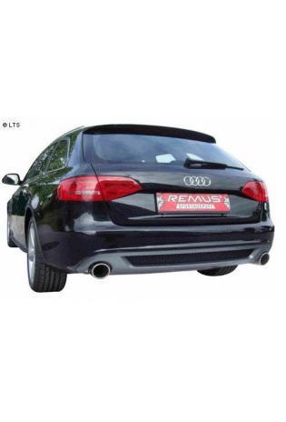 REMUS Duplex Sportauspuff re-li je 102 mm schräg Audi A4 Quattro Limousine 3.2l V6 FSI u. A4 Typ 8K 1.8l TFSI  2.0l TDI ab Bj. 08 und A5 Quattro Limousine Typ 8T 3.2l V6 FSI ab Bj. 07