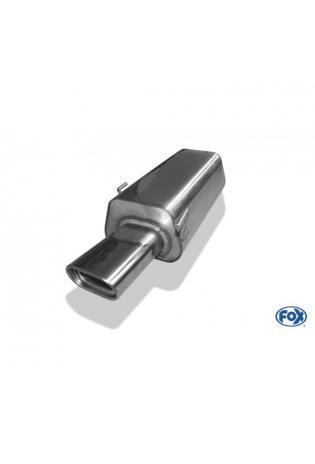 FOX Komplettanlage ab Kat Audi 80 Limousine Avant 2.0l bis 2.8l - 135x80mm flachoval (RohrØ 63.5mm)
