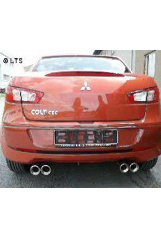 FOX Sportauspuff rechts links je 2 x 90mm eingerollt gerade mit Absorber Mitsubishi Colt Z30 - CZ3 und CZT (3-Türer) 1.1l  1.3l  1.5l  1.5l Diesel Edelstahl Duplex Endschalldämpfer