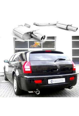 FOX Sportauspuff rechts links je 100mm eingerollt abgeschrägt mit Absorber Chrysler 300C (inkl. AWD) Limousine und Kombi 3.5l Edelstahl Duplex Endschalldämpfer
