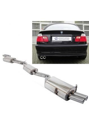 FOX Komplettanlage ab Kat. BMW 3er E46 Limo Touring Coupe Cabrio 2x76mm Absorber